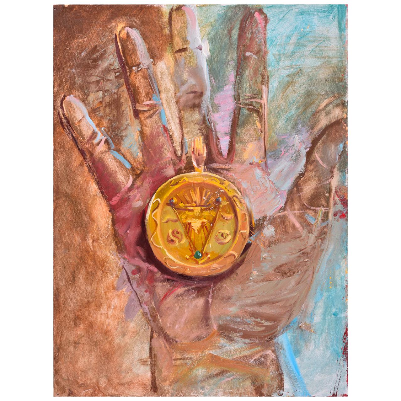 Картина Мехди Эбрагими Вафа «Личный медальон». Галерея искусств «Жуковка Арт»