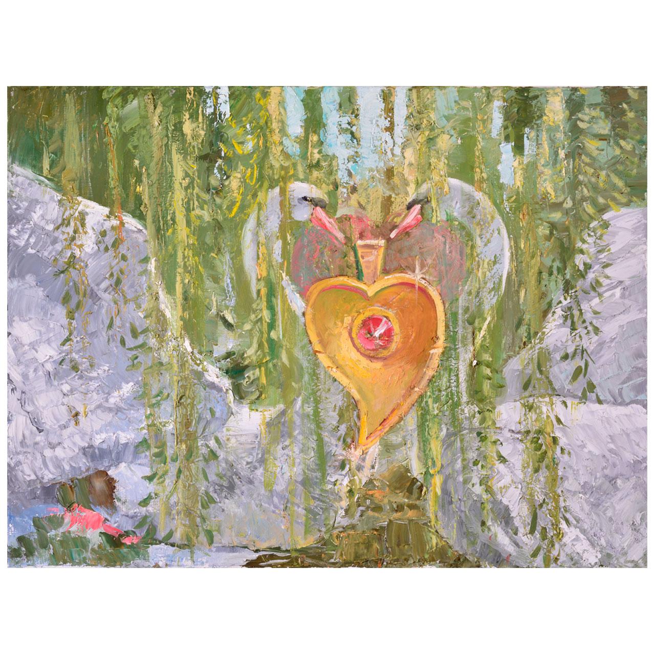 Картина Мехди Эбрагими Вафа «Сердце». Галерея искусств «Жуковка Арт»