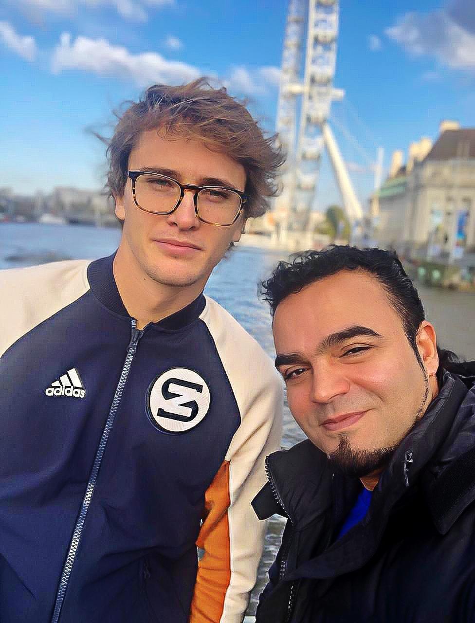 Мехди Эбрагими Вафа и Александр Зверев, Лондон 2019