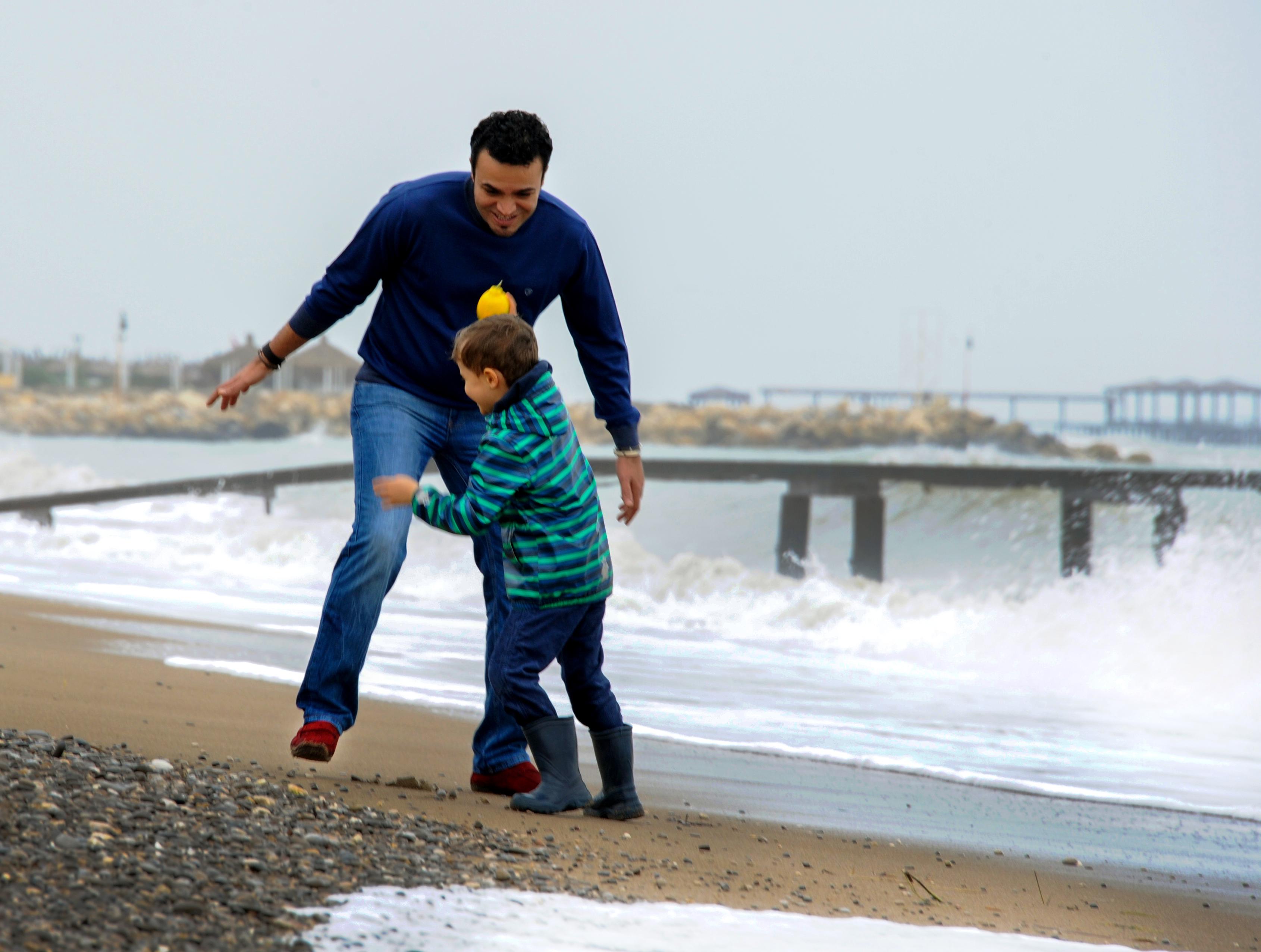 Мехди с сыном Максимом